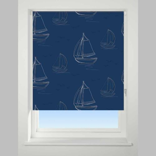 Universal Daylight Patterned Roller Blind - Boats